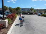 biking to the grocery store