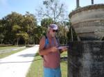 Bill at Dungeness ruins