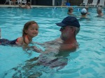Swimming with Papa