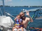 Her first sail