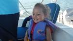 Having fun on the boat